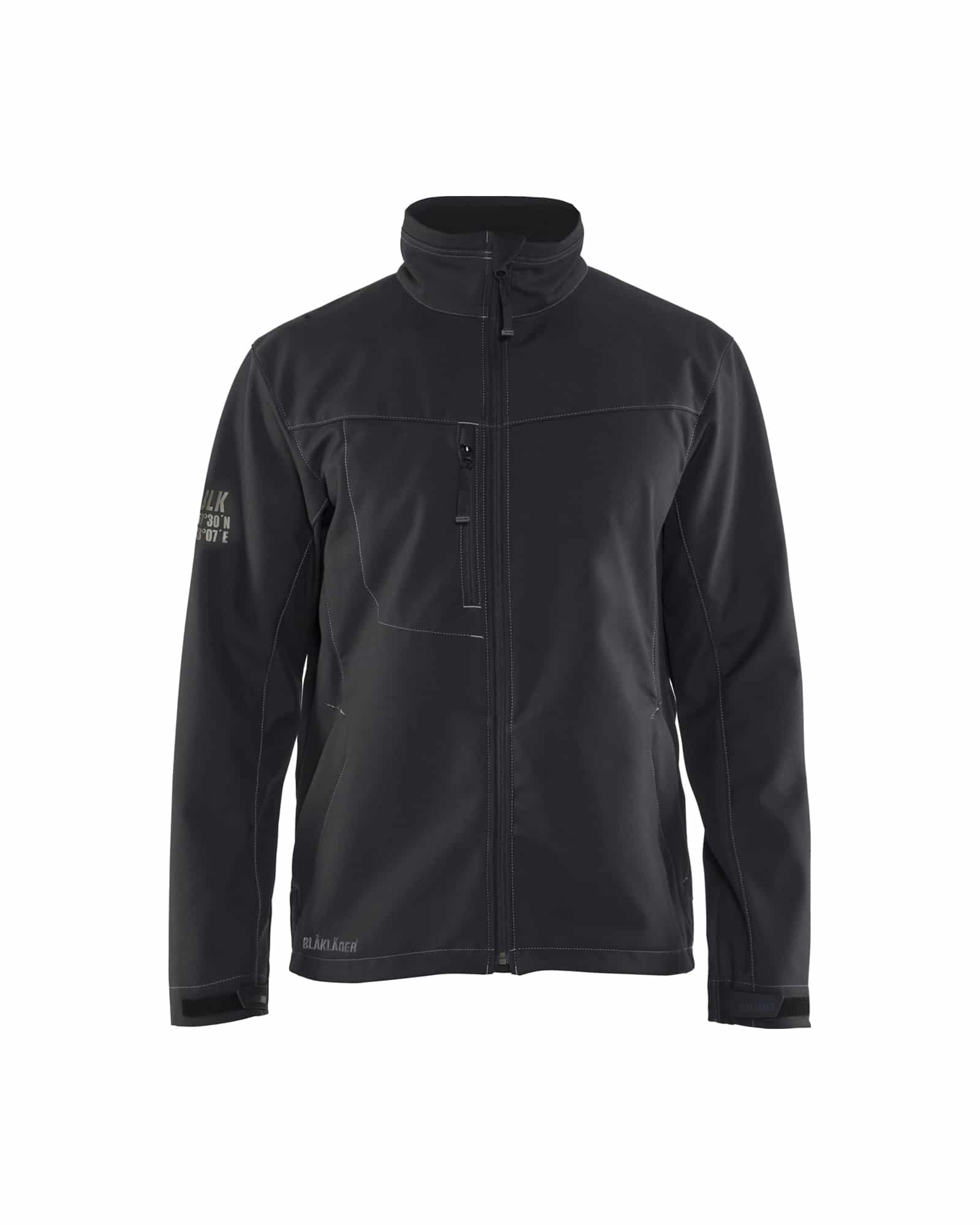 WTBL4957 - WorkwearToronto.com - Men's Softshell Jacket - Black