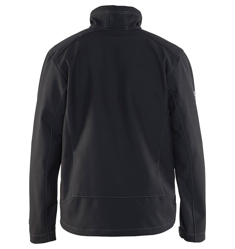 Custom Softshell jacket - Your logo - WTBL4957 black back - Workwear Toronto - Corporate Apparel - Promotional Products - Heat Transfer - Screen Printing - Embroidery - Mississauga