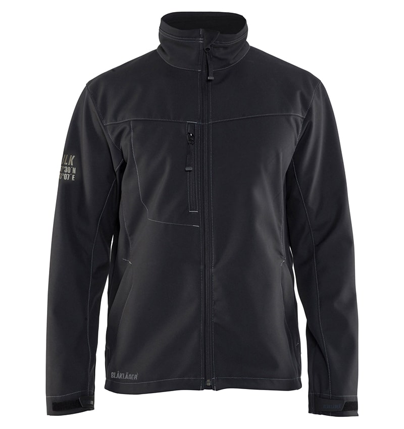 Custom Softshell jacket - Your logo - WTBL4957 black front - Workwear Toronto - Corporate Apparel - Promotional Products - Heat Transfer - Screen Printing - Embroidery