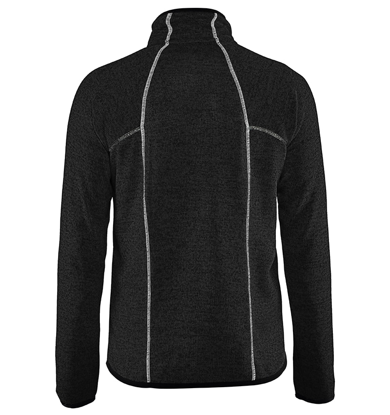 Custom Logo Knitted Jacket - WTBL4965 Dark Grey Back - Workwear Toronto - Corporate Apparel - Heat Transfer - Screen Printing - Embroidery - Promotional Products - Etobicoke