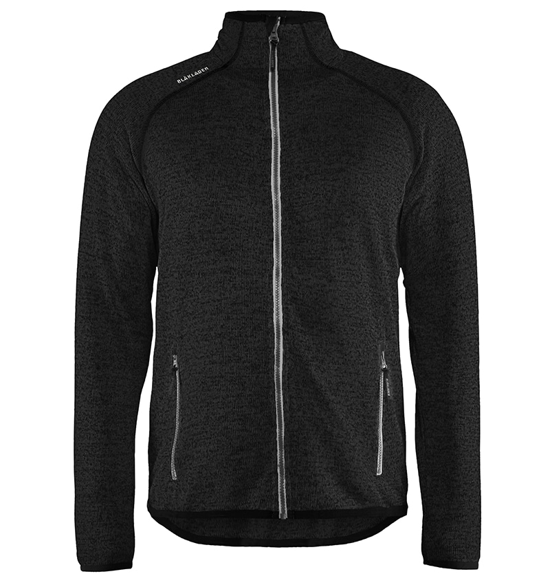 Custom Logo Knitted Jacket - WTBL4965 Dark Grey Front - Workwear Toronto - Corporate Apparel - Heat Transfer - Screen Printing - Embroidery - Promotional Products - Etobicoke