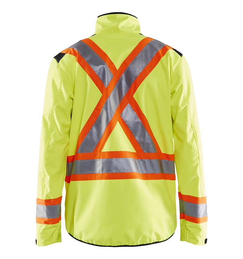 High Visibility Safety Jacket with Custom Logo - WTBL4975 - Safety Yellow - Custom Corporate Apparel - Workwear Toronto - Front