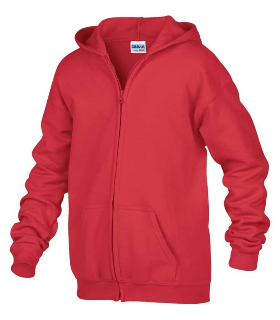 WTSM186B - Red - WorkwearToronto.com - Kids hoodies - Hoodies for Youth - Custom logo