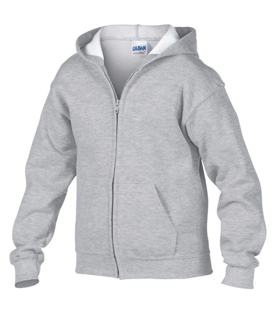 WTSM186B - Sport Grey- WorkwearToronto.com - Kids hoodies - Zip Hoodies for Youth - Custom Embroidery and Heat Press in Toronto