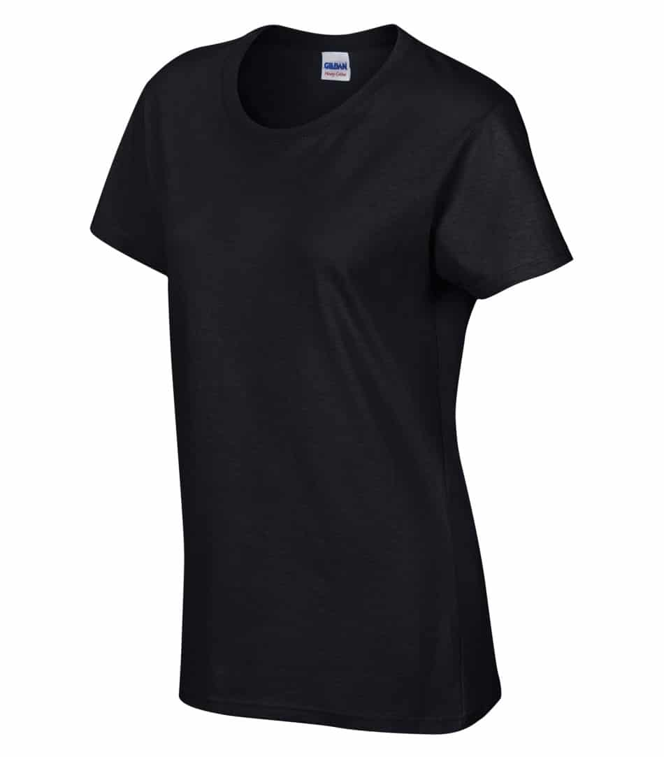 WTSM5000L-W - Black - WorkwearToronto.com - Women's T-Shirt With Optional Logo