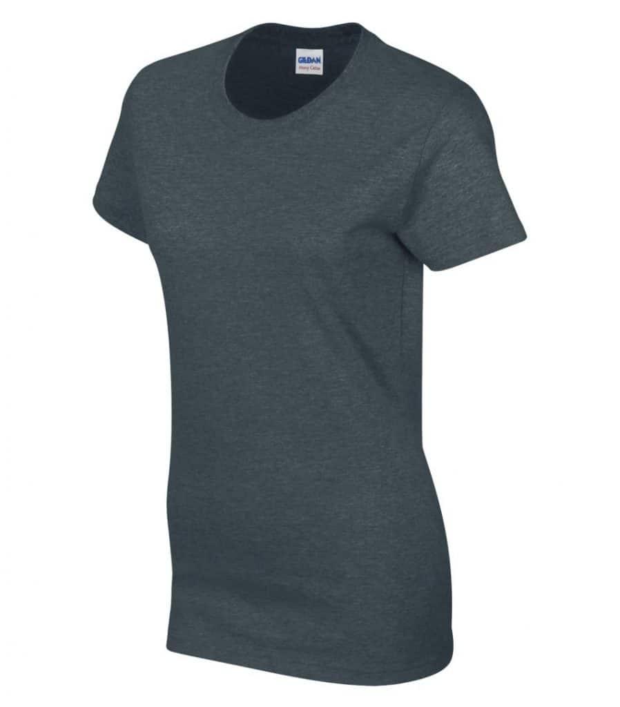 WTSM5000L-W - Dark Heather - WorkwearToronto.com - Women's T-Shirt With Optional Logo