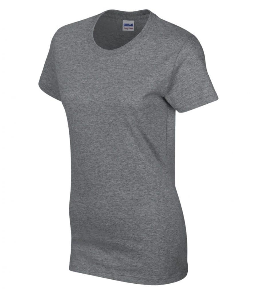 WTSM5000L-W - Graphite Heather - WorkwearToronto.com - Women's T-Shirt With Optional Logo