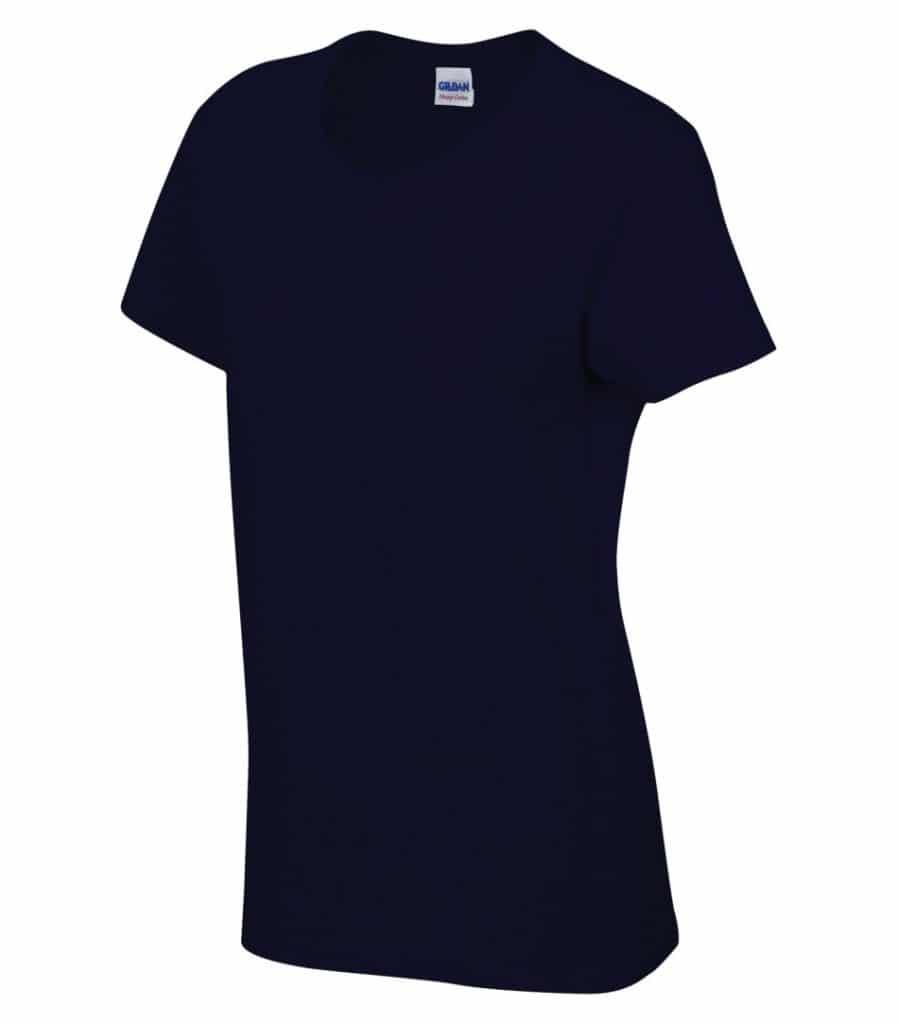 WTSM5000L-W - Navy - WorkwearToronto.com - Women's T-Shirt With Optional Logo