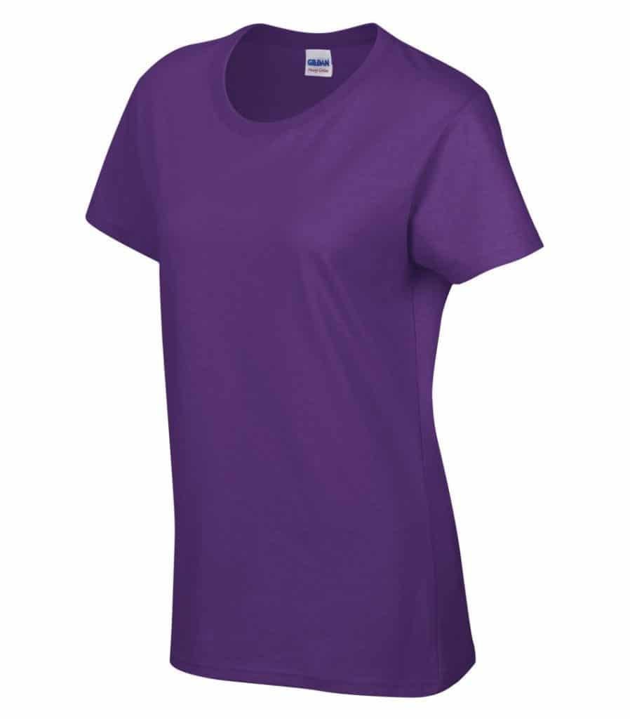 WTSM5000L-W - Purple - WorkwearToronto.com - Women's T-Shirt With Optional Logo