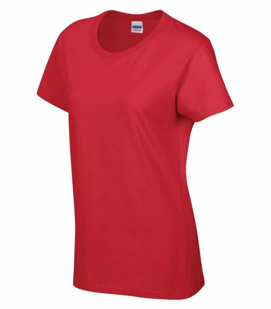 WTSM5000L-W - Red - WorkwearToronto.com - Women's T-Shirt With Optional Logo