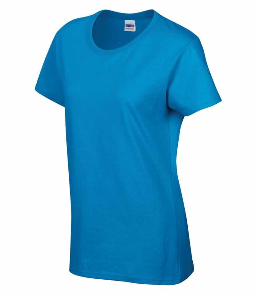 WTSM5000L-W - Sapphire - WorkwearToronto.com - Women's T-Shirt With Optional Logo