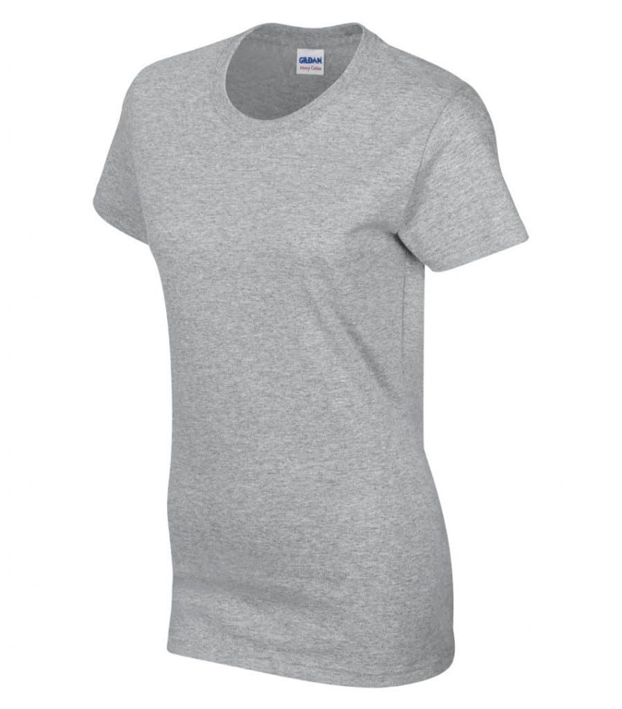 WTSM5000L-W - Sport Grey - WorkwearToronto.com - Women's T-Shirt With Optional Logo