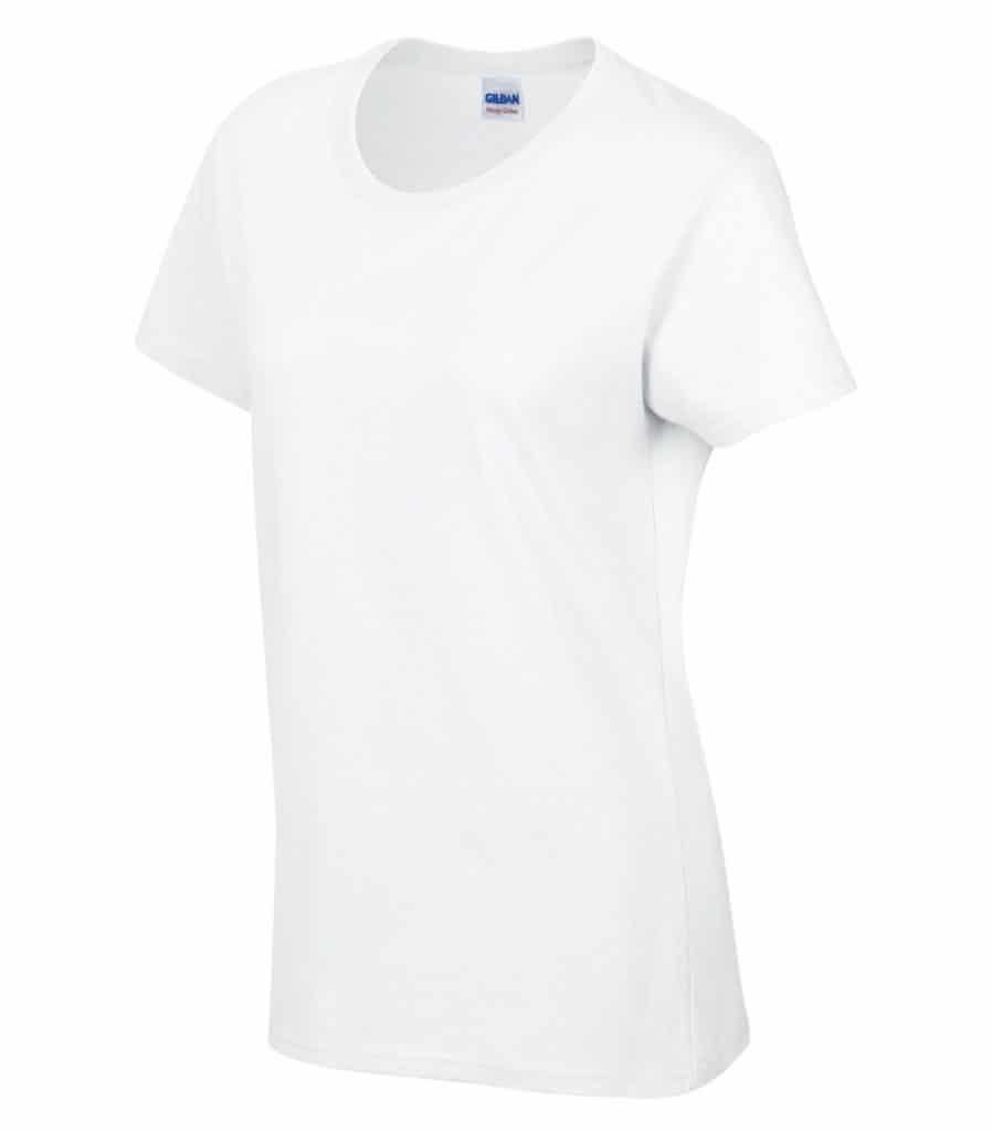 WTSM5000L-W - White - WorkwearToronto.com - Women's T-Shirt With Optional Logo