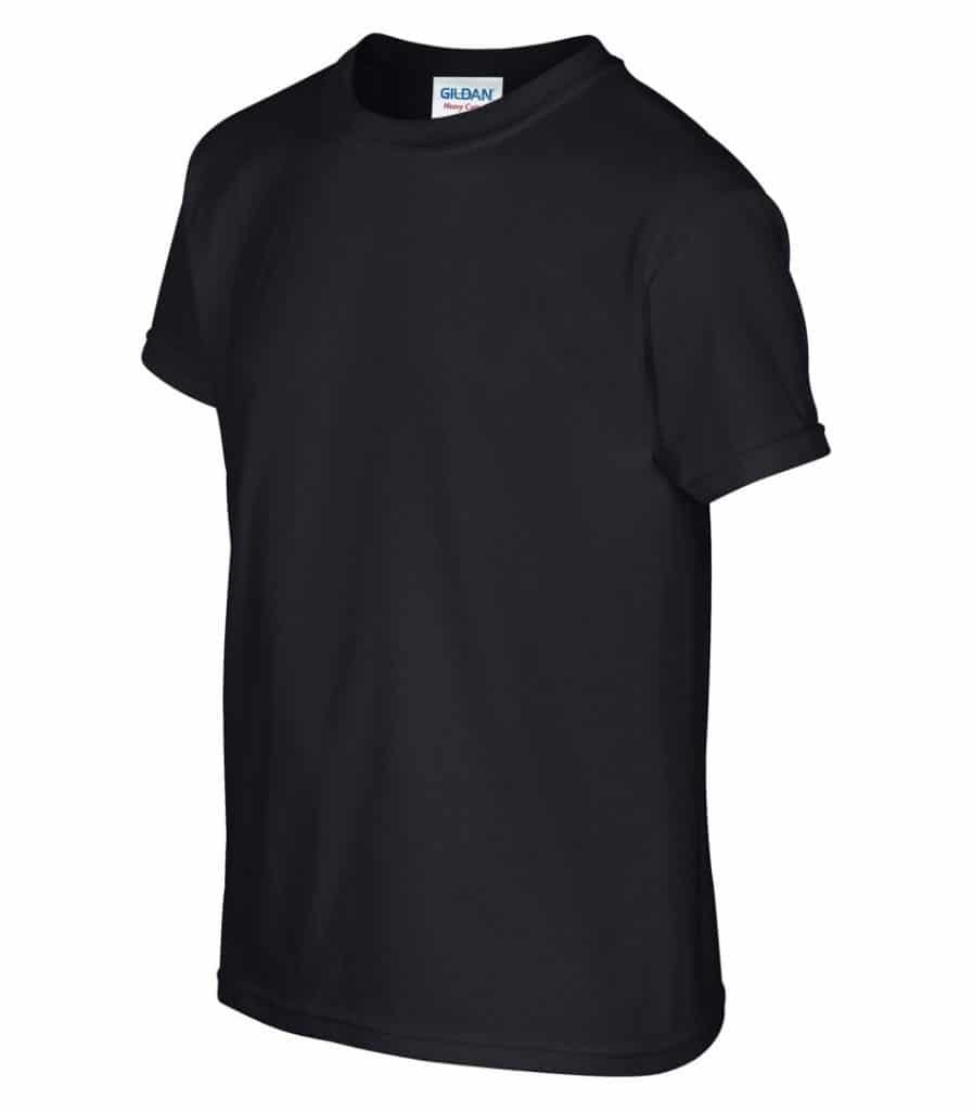 WTSM500B-Y - Black - WorkwearToronto.com - T-Shirts for Youth With Custom Decoration - Custom T Shirts - Heat Press - Embroidery - Screen Printing