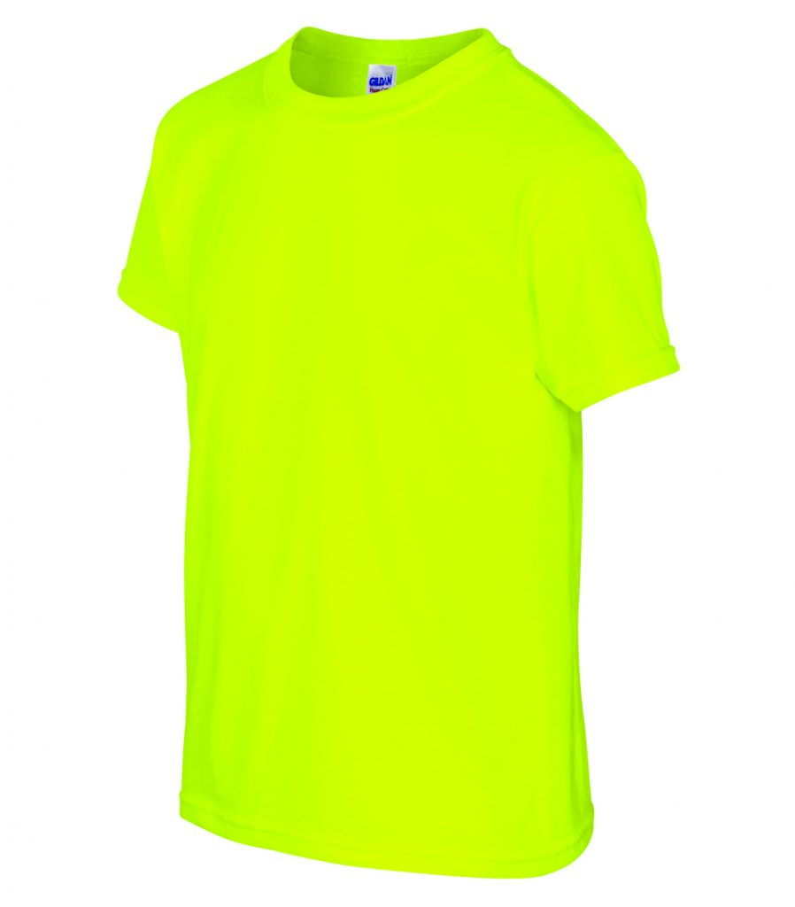 WTSM500B-Y - Safety Green - WorkwearToronto.com - T-Shirts for Youth With Custom Decoration