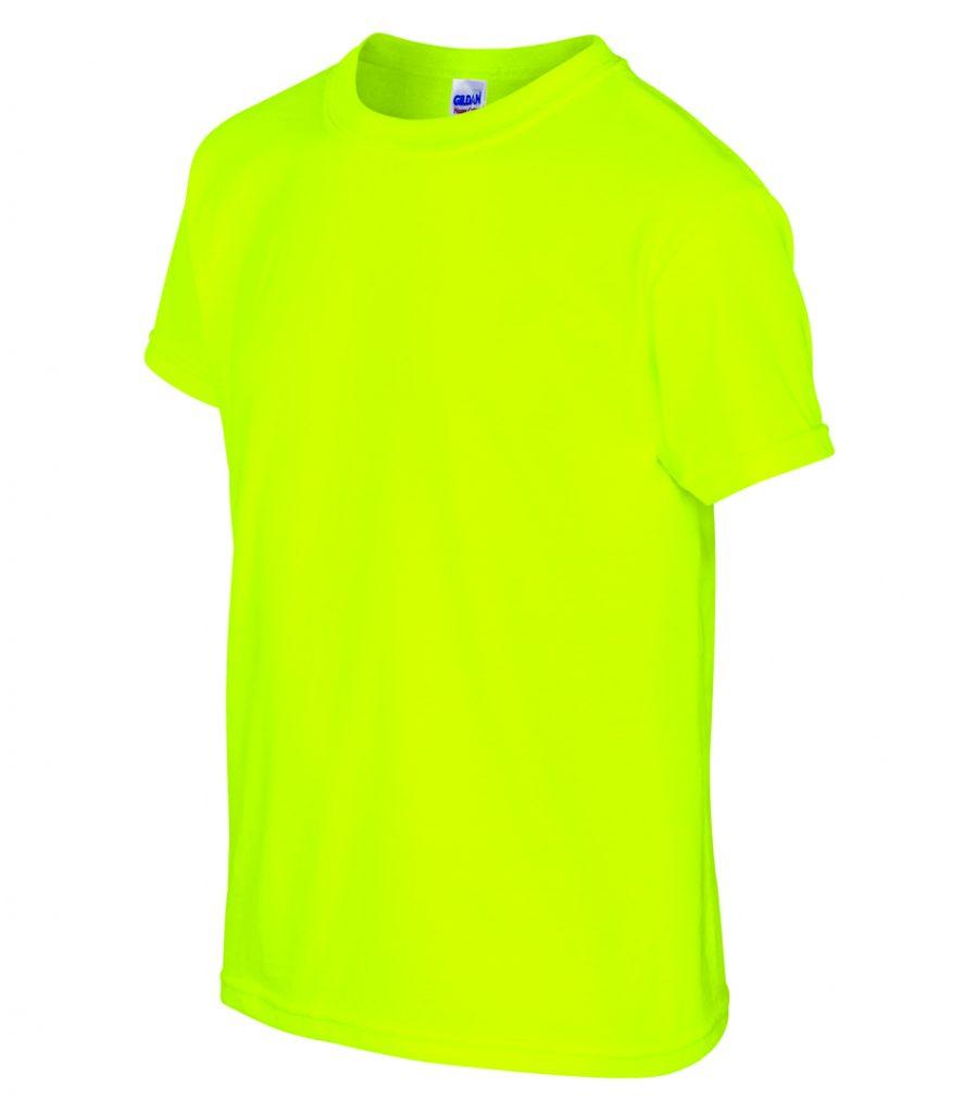 WTSM500B-Y - Safety Green - WorkwearToronto.com - T-Shirts for Youth With Custom Decoration - Custom T Shirts with Heat Press Vinyl