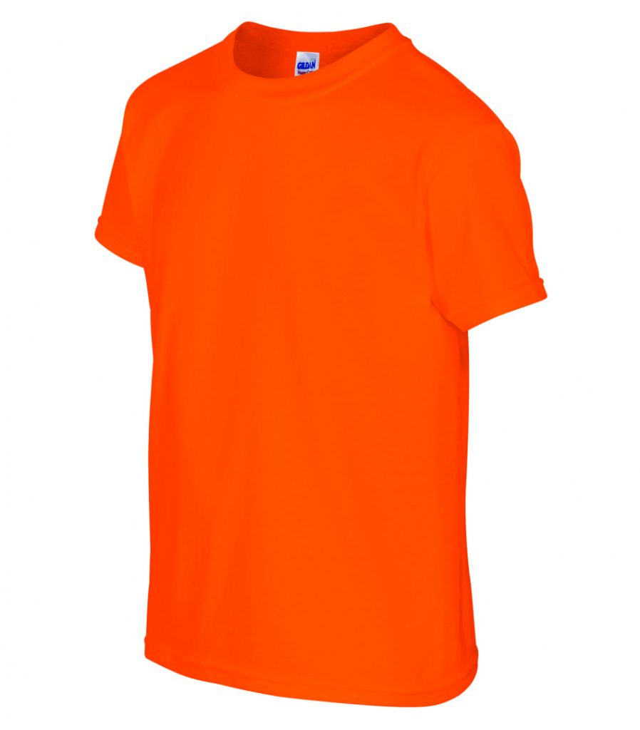 WTSM500B-Y - Safety Orange - WorkwearToronto.com - T-Shirts for Youth With Custom Decoration