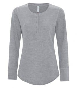 WTSMATC8064L-W - Grey Heather - WorkwearToronto.com - Women's T-Shirt - Heat Press, Embroidery and Screen Printing