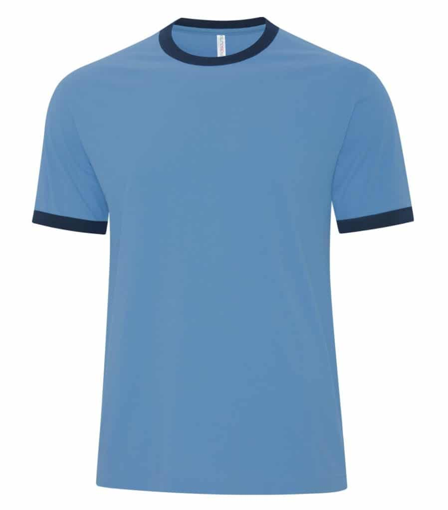 WTSMATC9001 - Carolina Blue & True Navy - WorkwearToronto.com - Men's T-Shirts - Custom T Shirts Cost
