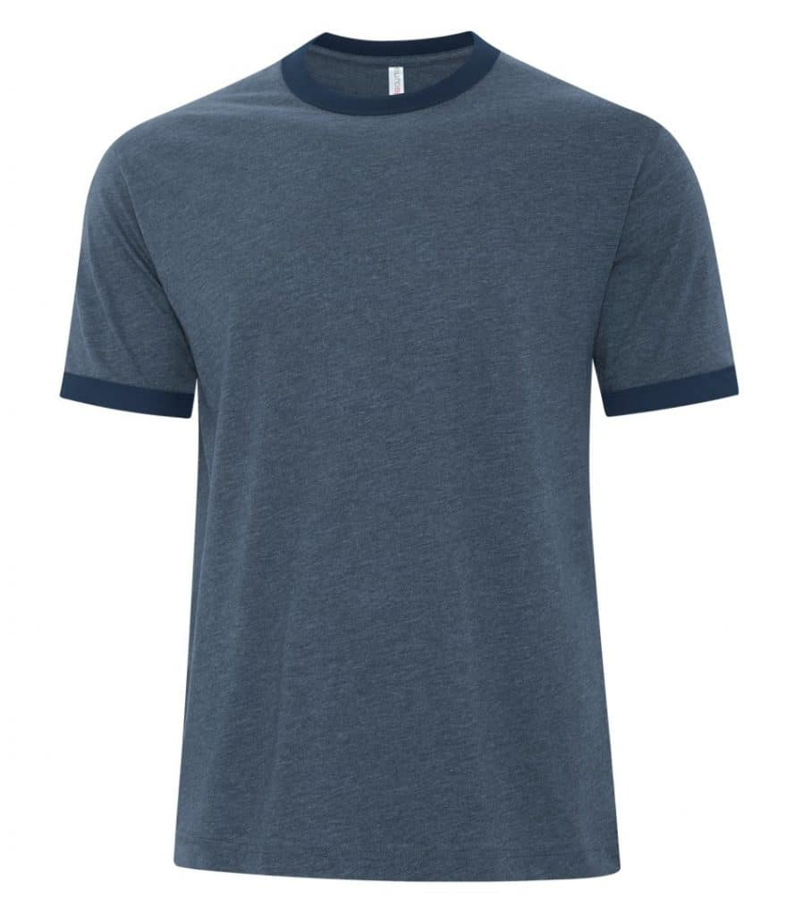WTSMATC9001 - Navy Heather & True Navy - WorkwearToronto.com - Men's T-Shirts