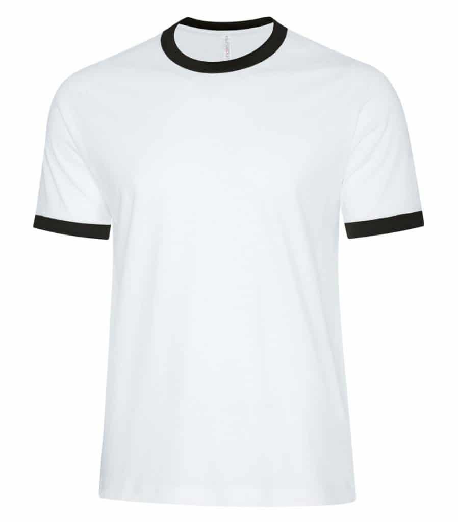 WTSMATC9001 - White & Black - WorkwearToronto.com - Men's T-Shirts