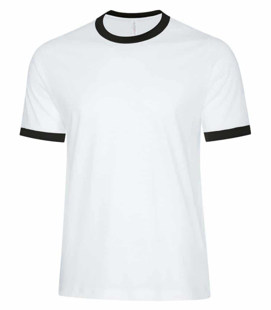 WTSMATC9001 - White & Black - WorkwearToronto.com - Men's T-Shirts - Embroidery, Screen Printing and Heat Press
