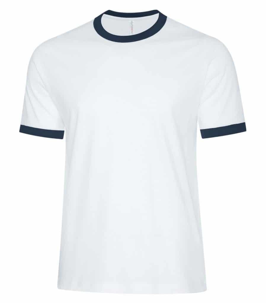 WTSMATC9001 - White & True Navy - WorkwearToronto.com - Men's T-Shirts