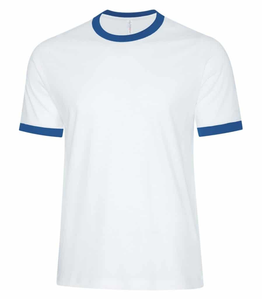 WTSMATC9001 - White & True Royal - WorkwearToronto.com - Men's T-Shirts - Custom T Shirts Cost