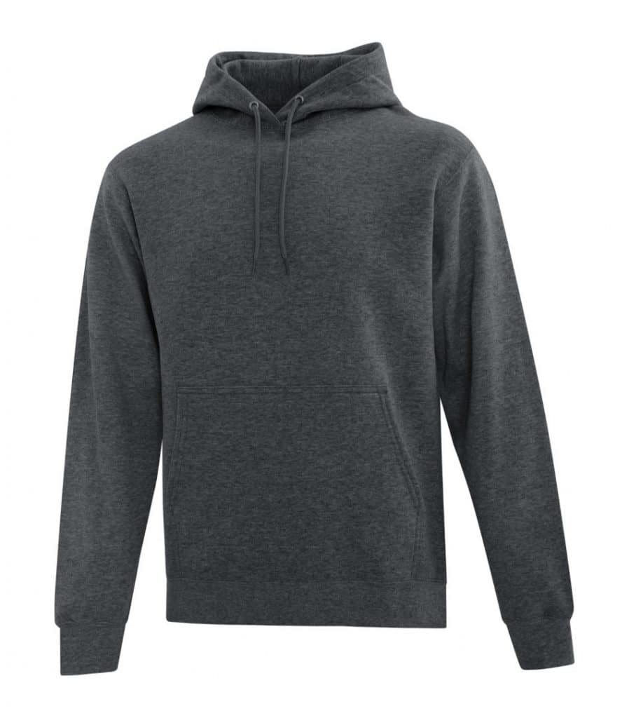 WTSMATCF2500 - Dark Heather Grey - Hooded Sweatshirt For Men - WorkwearToronto.com - Men's Hoodies Sweatshirts