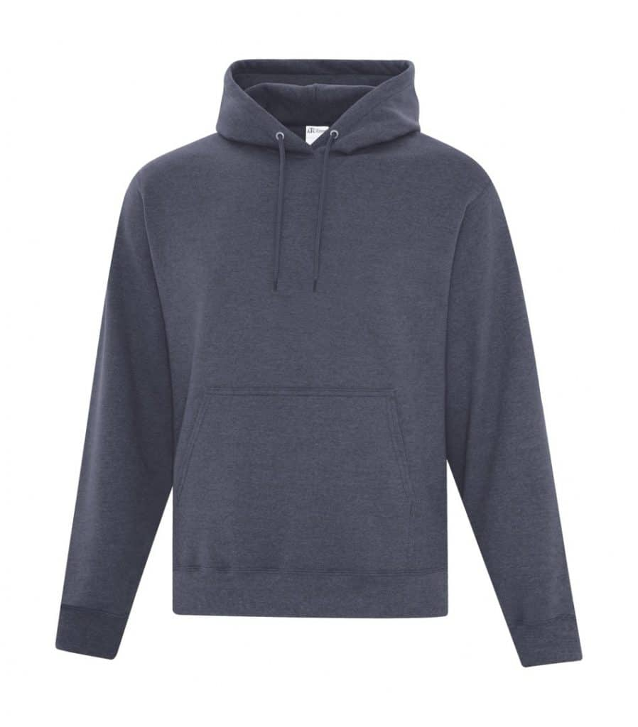 WTSMATCF2500 - Heather Navy - Hooded Sweatshirt For Men - WorkwearToronto.com - Men's Hoodies Sweatshirts