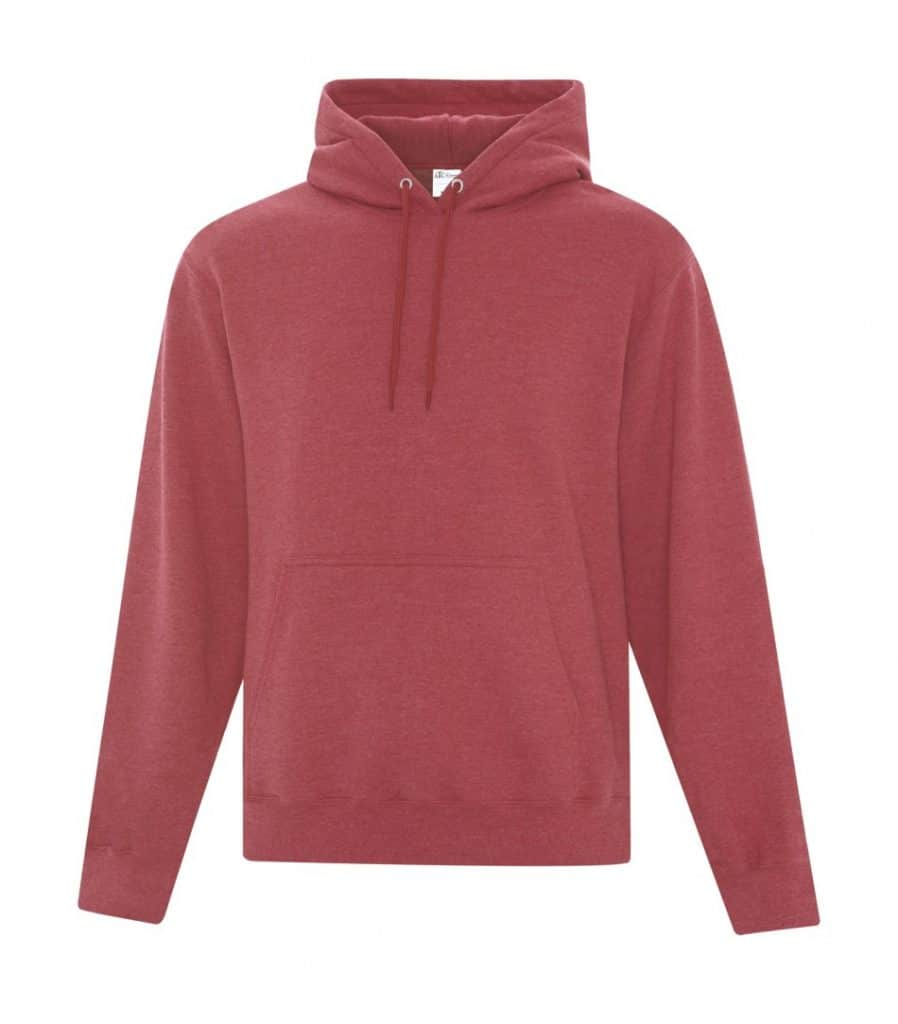 WTSMATCF2500 - Heather Red - Hooded Sweatshirt For Men - WorkwearToronto.com - Men's Hoodies Sweatshirts