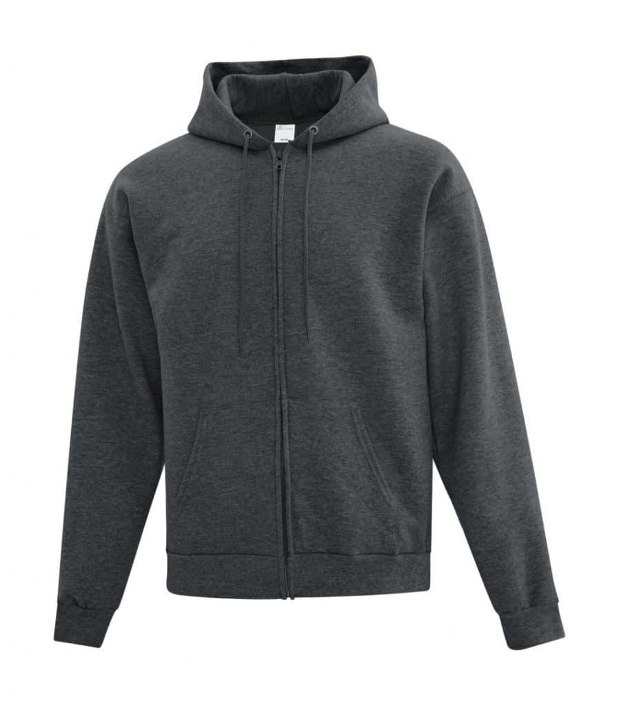 WTSMATCF2600 - Dark Heather Grey - Hooded Sweatshirt - WorkwearToronto.com - Men's Hoodies - Custom Logo
