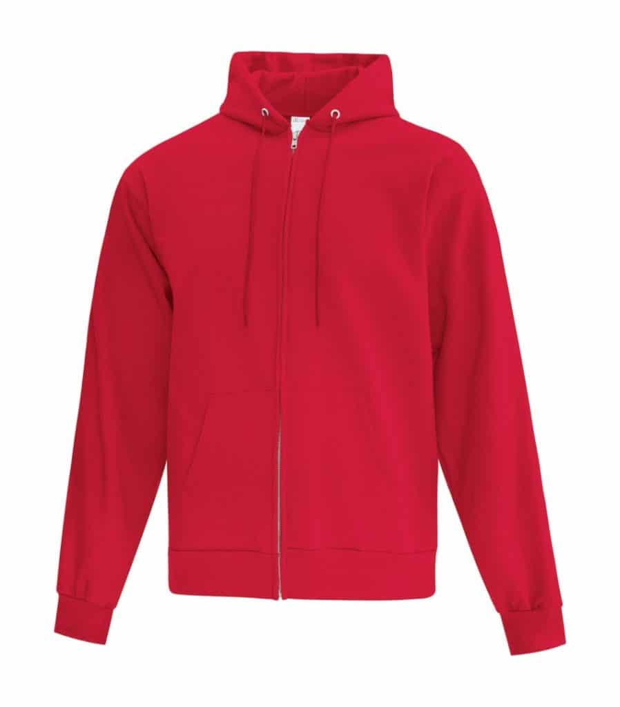 WTSMATCF2600 - Red - Hooded Sweatshirt - WorkwearToronto.com - Men's Hoodies - Custom Logo