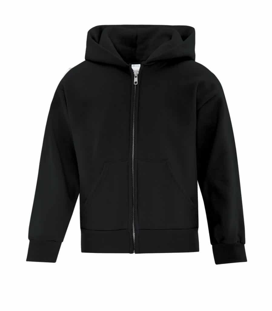WTSMATCY2600Y - Black - WorkwearToronto.com - Kids Hooded Sweatshirt