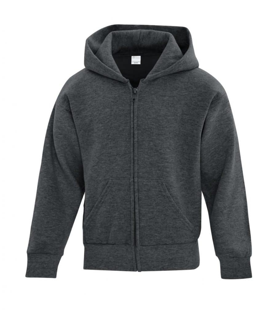 WTSMATCY2600Y - Dark Heather Grey - WorkwearToronto.com - Kids Hooded Sweatshirt