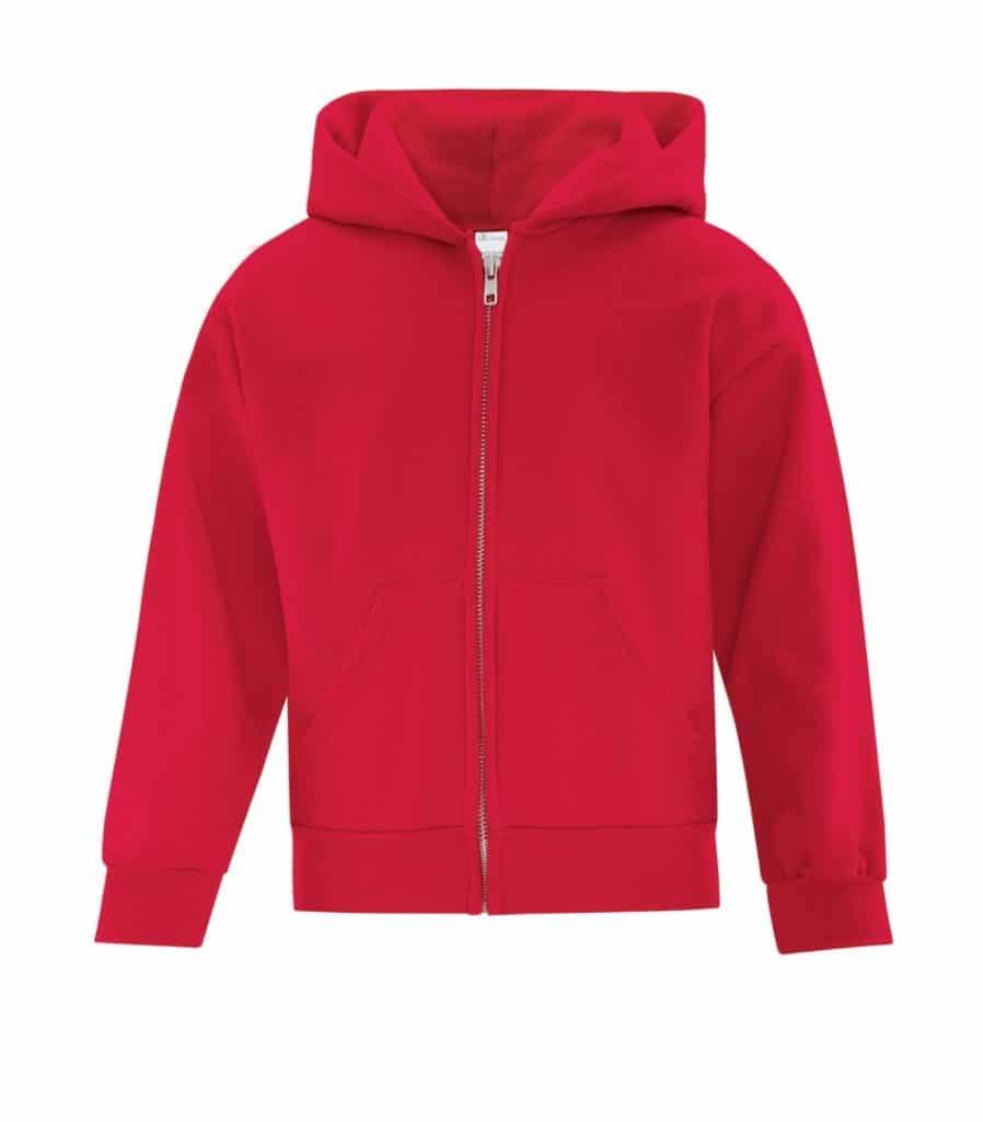 WTSMATCY2600Y - Red - WorkwearToronto.com - Kids Hooded Sweatshirt