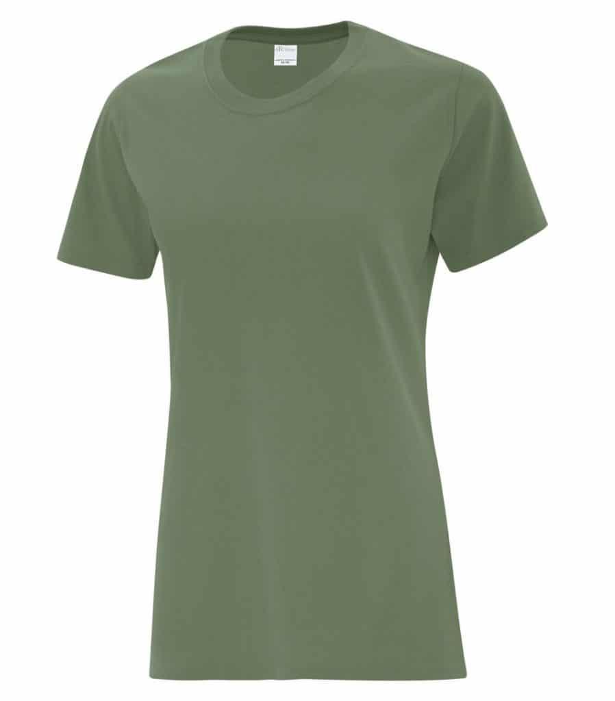 WTSMBATC1000L-W Fatigue Green - WorkwearToronto.com - Ladies' T-Shirts - Custom T Shirts Cost