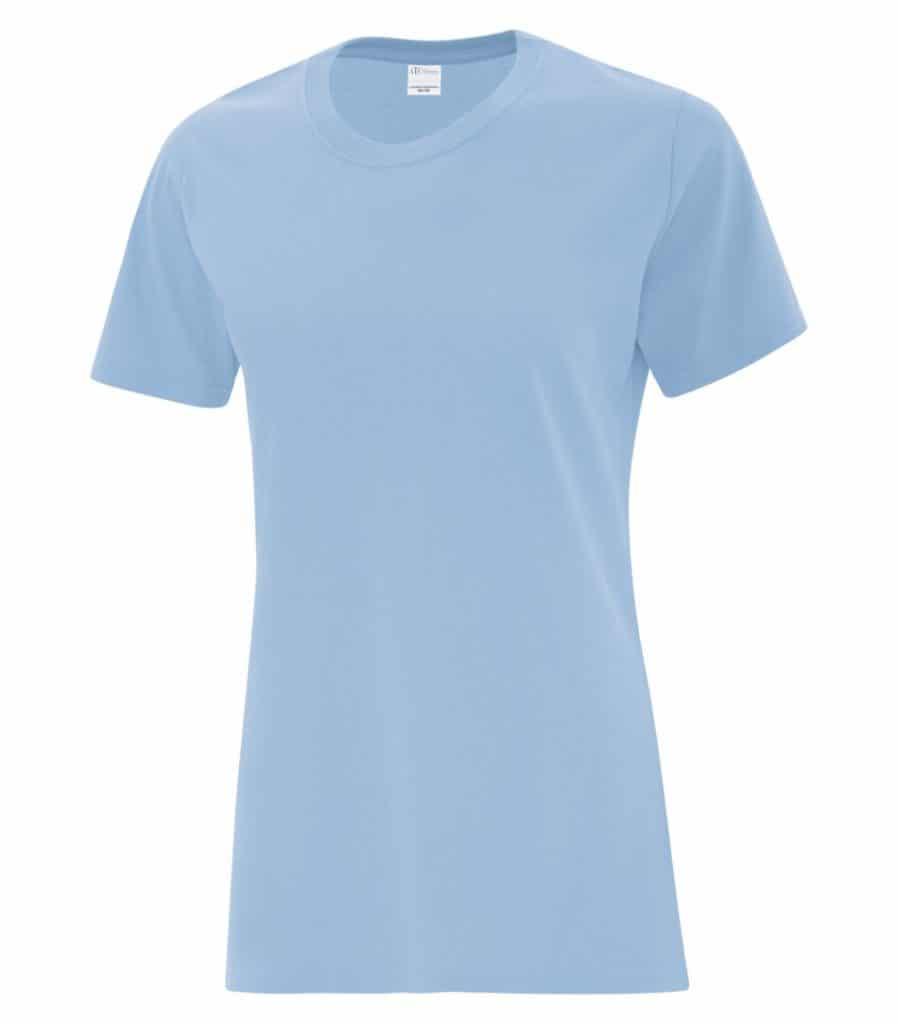 WTSMBATC1000L-W - Light Blue - WorkwearToronto.com - Women's Cotton T-Shirts - Custom T Shirts Cost