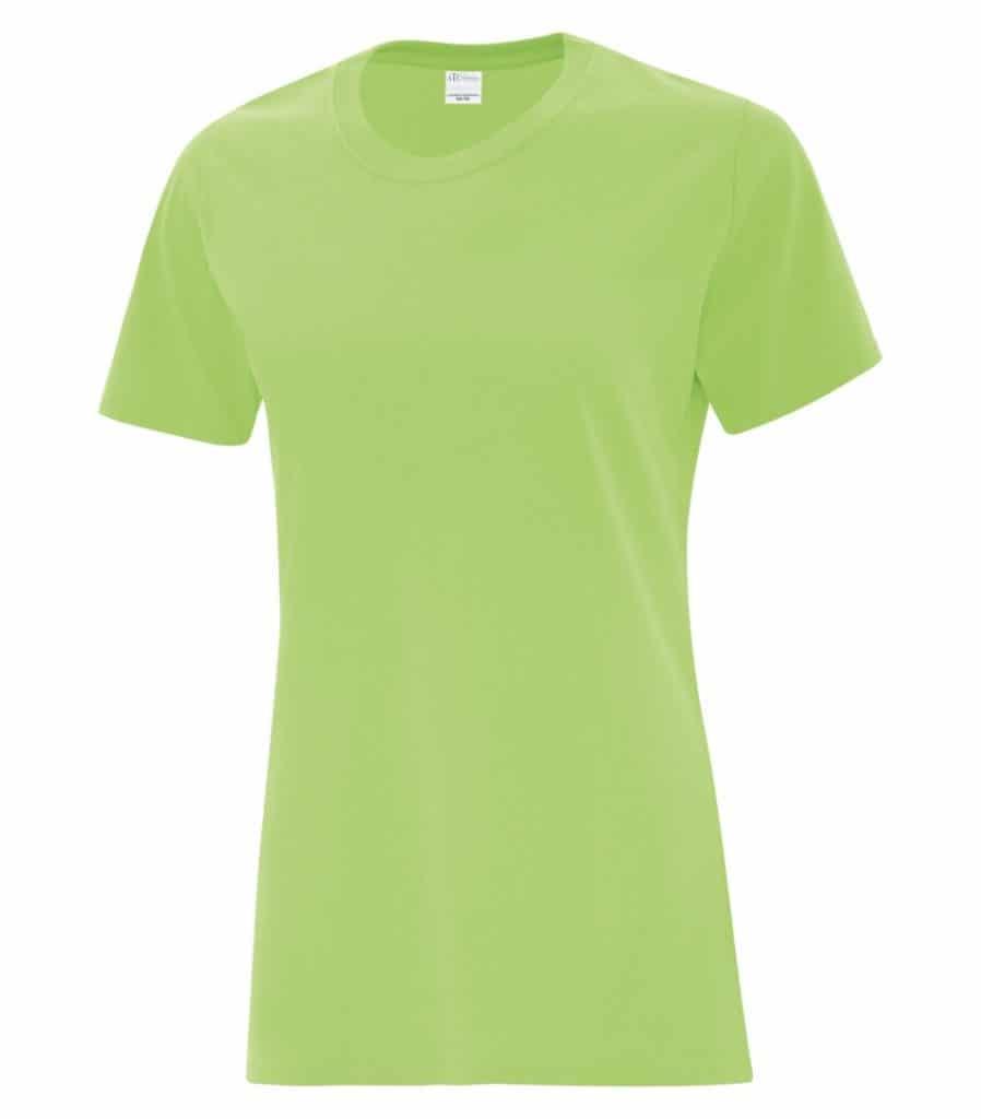WTSMBATC1000L-W - Lime - WorkwearToronto.com - Ladies' T-Shirts - Custom T Shirts Cost