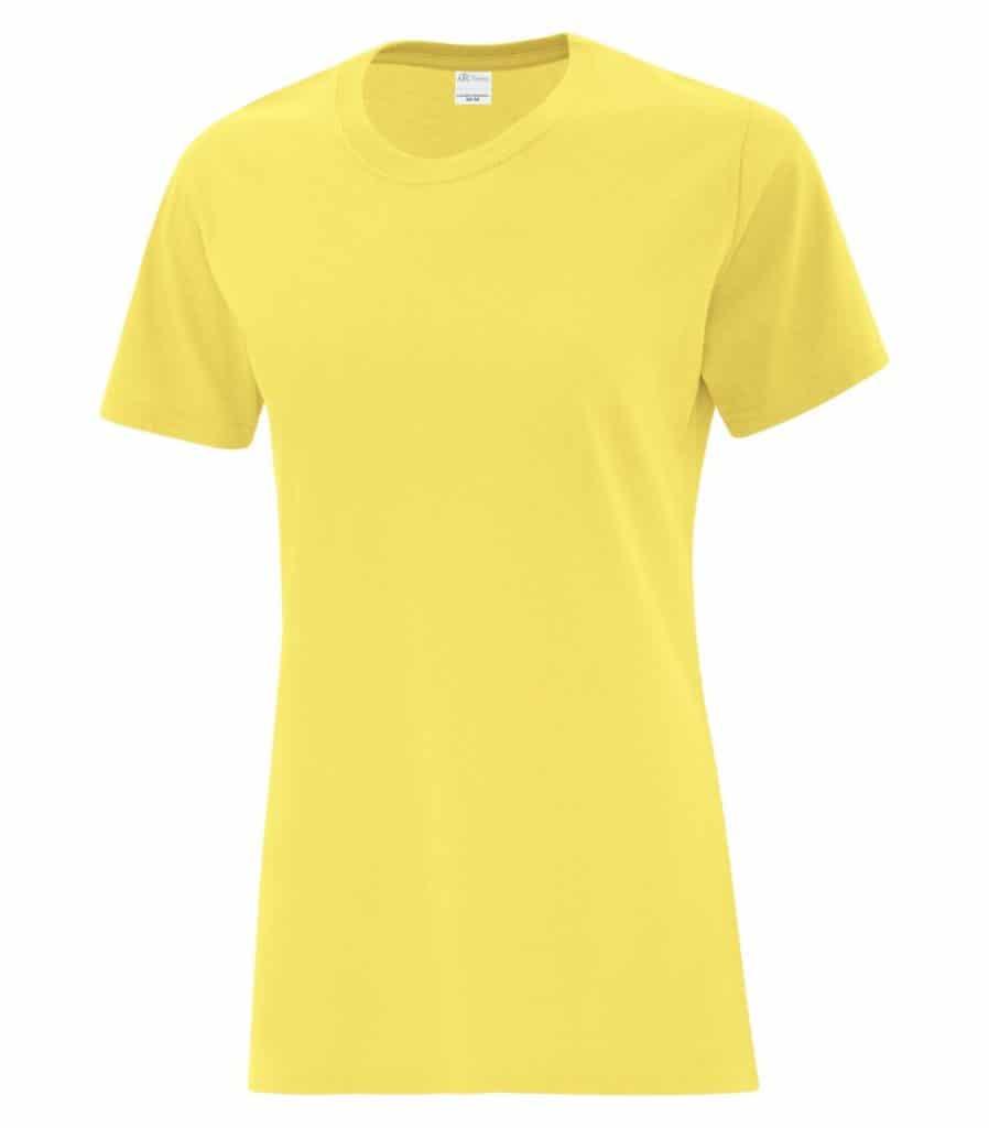 WTSMBATC1000L-W - Yellow - WorkwearToronto.com - Ladies' T-Shirts - Custom T Shirts Cost
