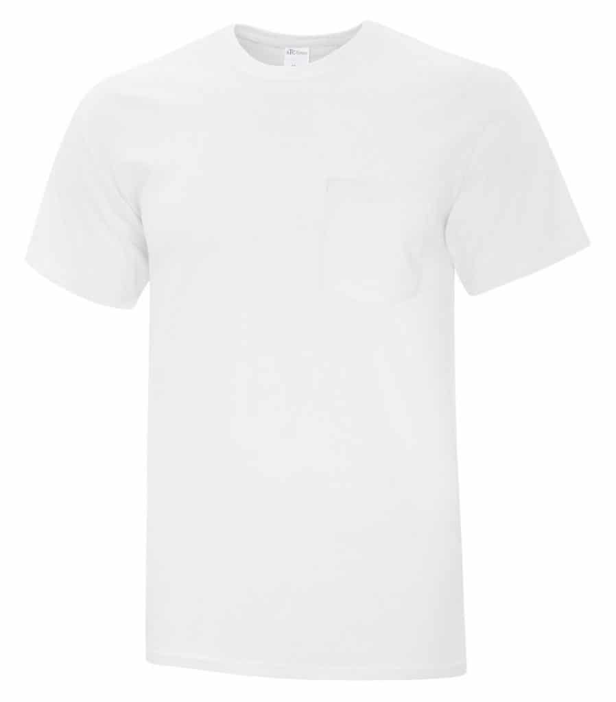 WTSMBATC1000P - White - WorkwearToronto.com - Men's T-Shirt