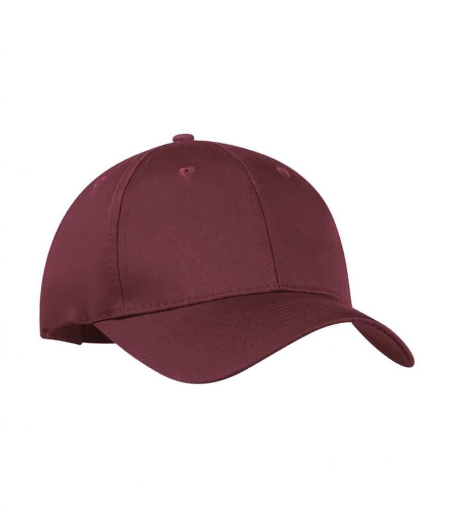 WTSMC130 - Maroon - WorkwearToronto.com - Baseball Hat - Headwear - Custom Embroidery Decoration
