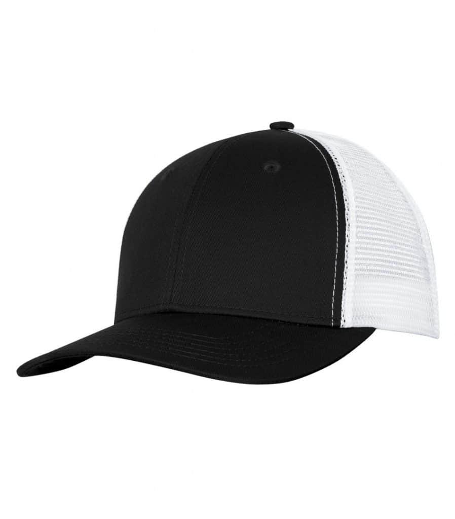 WTSMC1318 - Black - White - WorkwearToronto.com - Headwear - Baseball Hats - Custom Decoration Embroidery