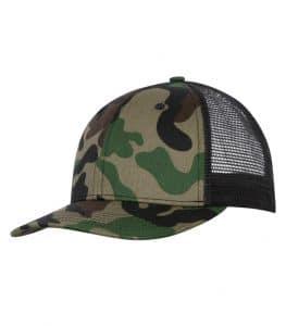 WTSMC1318 - Camo - Black - WorkwearToronto.com - Headwear - Baseball Hats - Custom Decoration Embroidery Cost - Trucker Cap