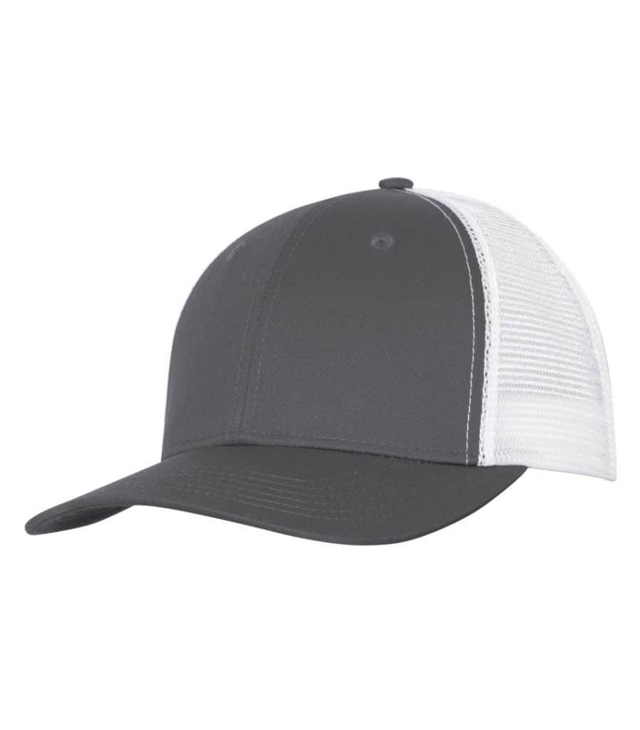 WTSMC1318 - Coal Grey - White - WorkwearToronto.com - Headwear - Baseball Hats - Custom Decoration Embroidery