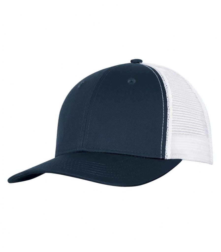 WTSMC1318 - Navy - White - WorkwearToronto.com - Headwear - Baseball Hats - Custom Decoration Embroidery