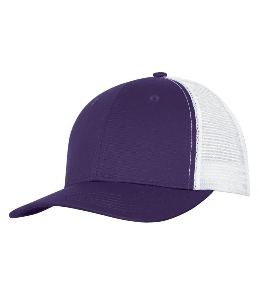 WTSMC1318 - Purple - White - WorkwearToronto.com - Headwear - Baseball Hats - Custom Decoration Embroidery