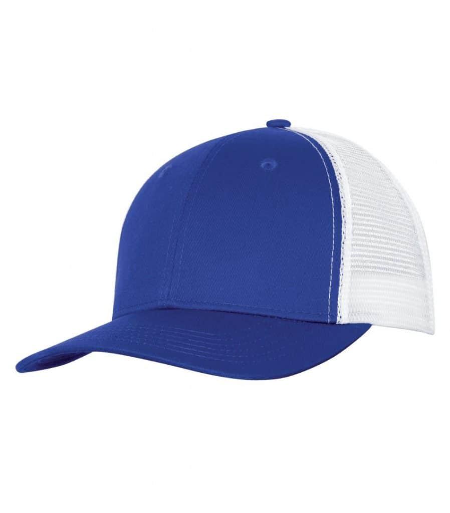WTSMC1318 - Royal - White - WorkwearToronto.com - Headwear - Baseball Hats - Custom Decoration Embroidery