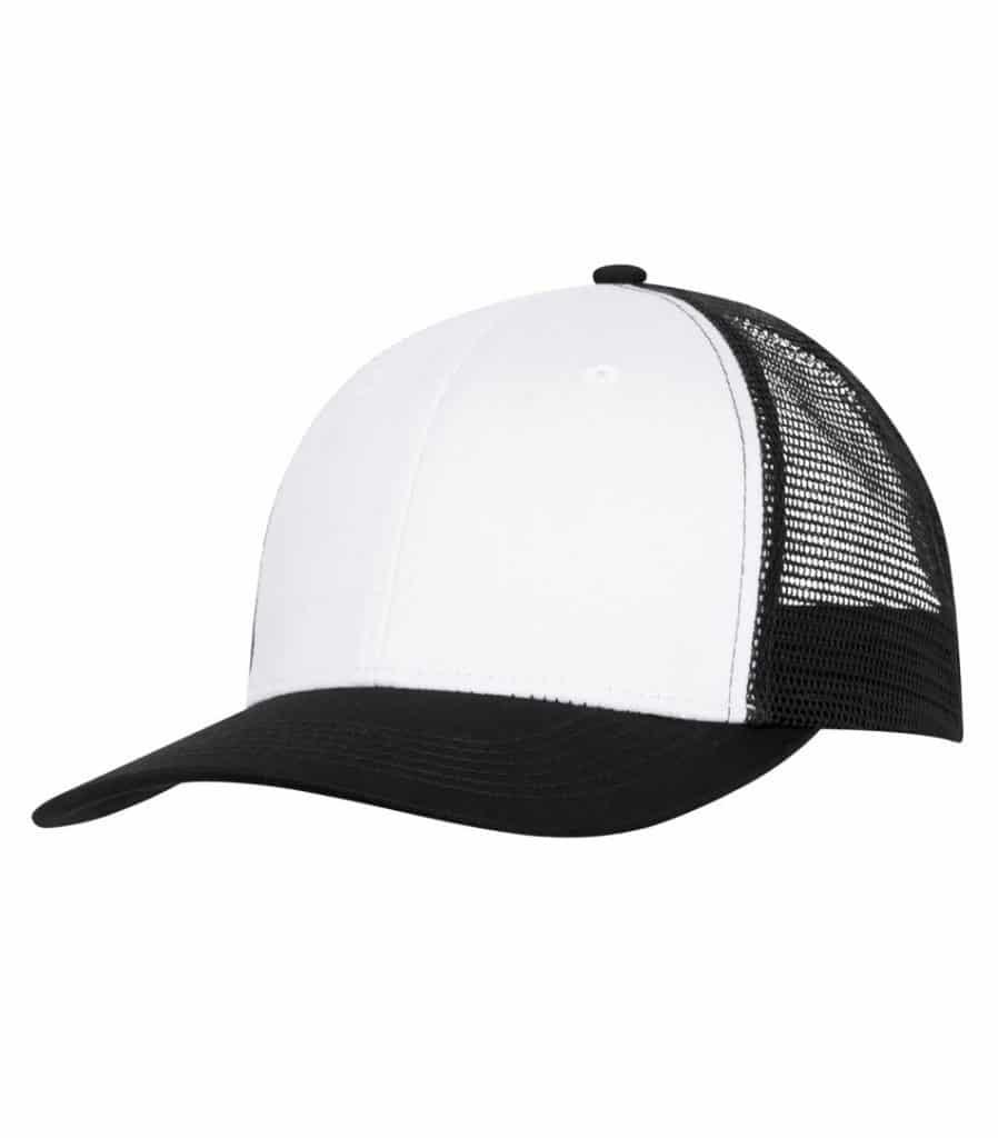 WTSMC1318 - White - Black - WorkwearToronto.com - Headwear - Baseball Hats - Custom Decoration Embroidery