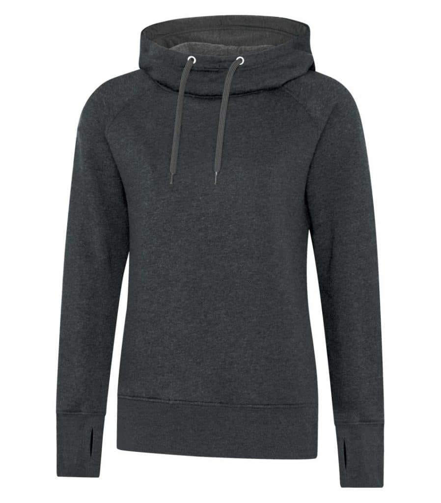 WTSML2045W - Black Heather - WorkwearToronto.com - Ladies' Hoodies & Sweatshirts